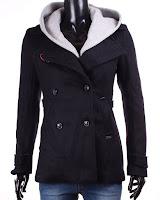 Palton Bsk Grey Hood (Bershka)