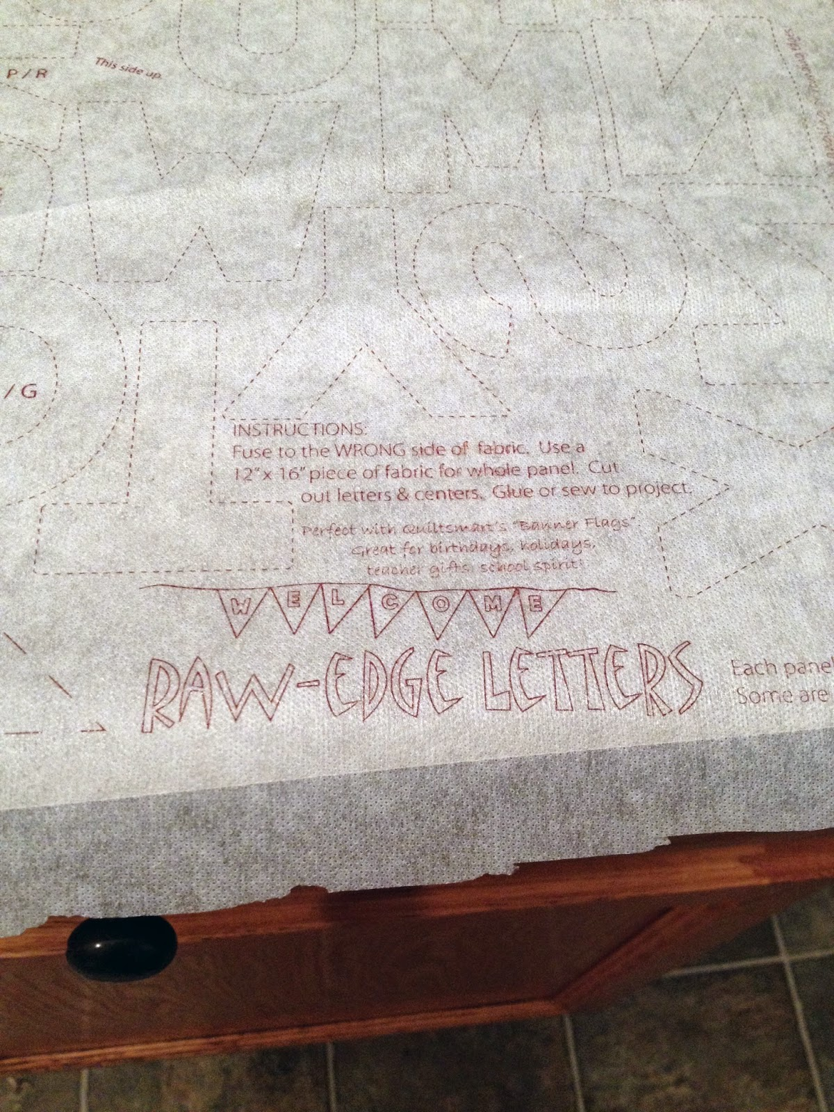 Quiltsmart Raw-Edge Letters