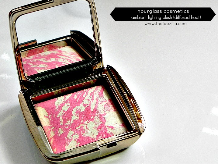 hourglass ambient lighting blush diffused heat review swatch