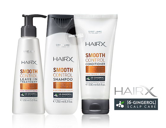 HairX Smooth Control da Oriflame - Cuidados Capilares para o Cabelo Frisado