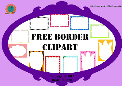 Free borders and frames clip art for teachers
