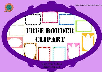 Free borders and frames clip art for teachers