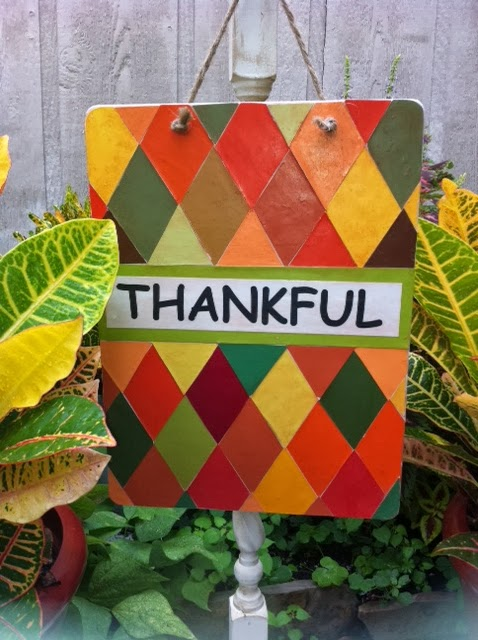 how to make a  Thankful Sign Tutorial