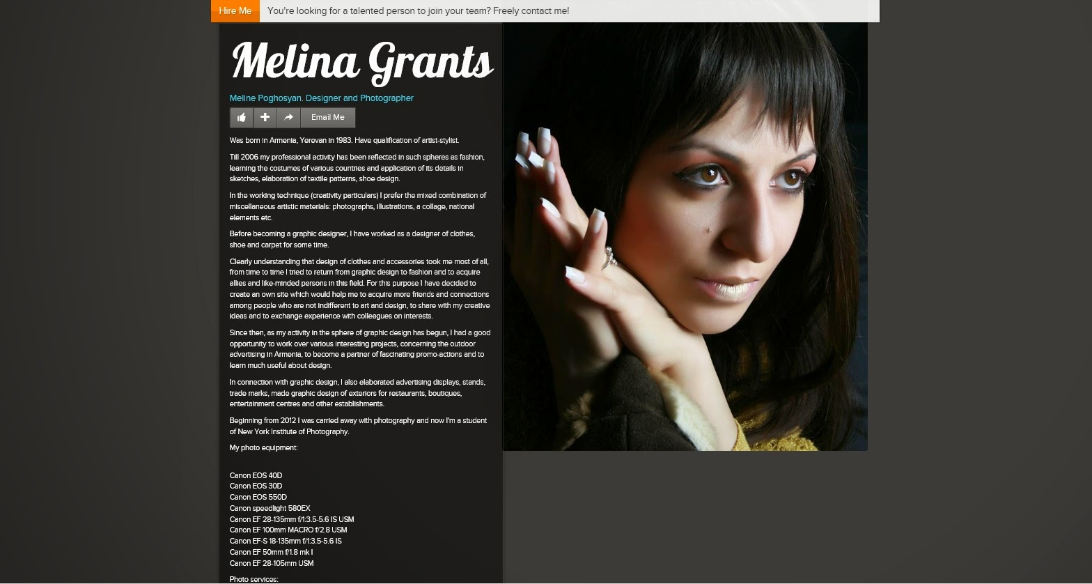 An image of Melina Grants, Photographer & Designer