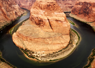 It's quite the little hike to get to and from Horseshoe Bend. There's a lot of sand and uphills to traverse, but you are rewarded with a very nice view in the end.