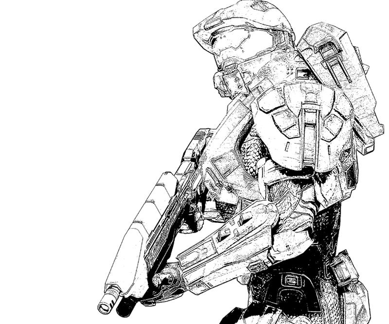 Printable Halo 4 Character Coloring Pages