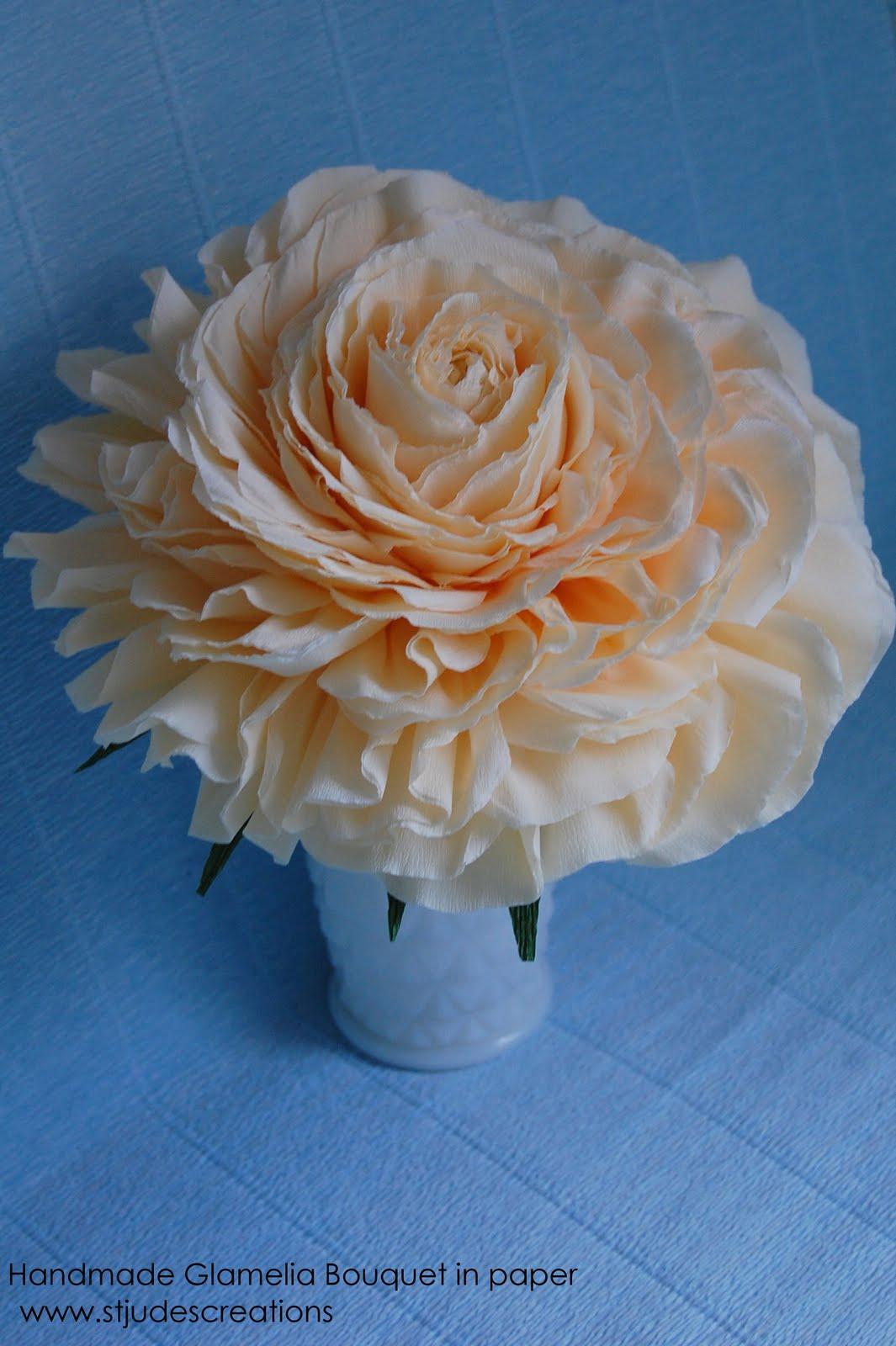Glamelia wedding bouquet handmade paper flowers by maria noble glamelia wedding bouquet izmirmasajfo