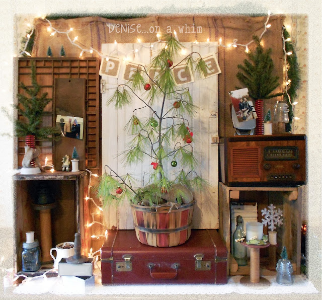 My Own Vintage Christmas Nook via http://deniseonawhim.blogspot.com