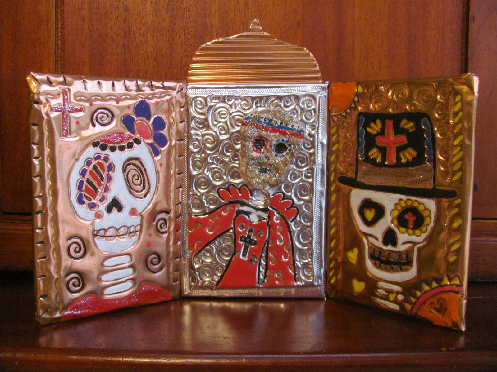 ART PROJECT Day Of The Dead Metalwork