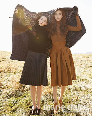 Lee Som and Yoon So Jung - Marie Claire Magazine October Issue 2013