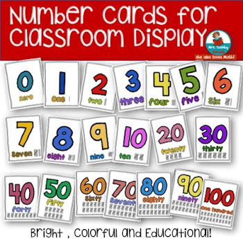 Display Number Cards in Your Classroom