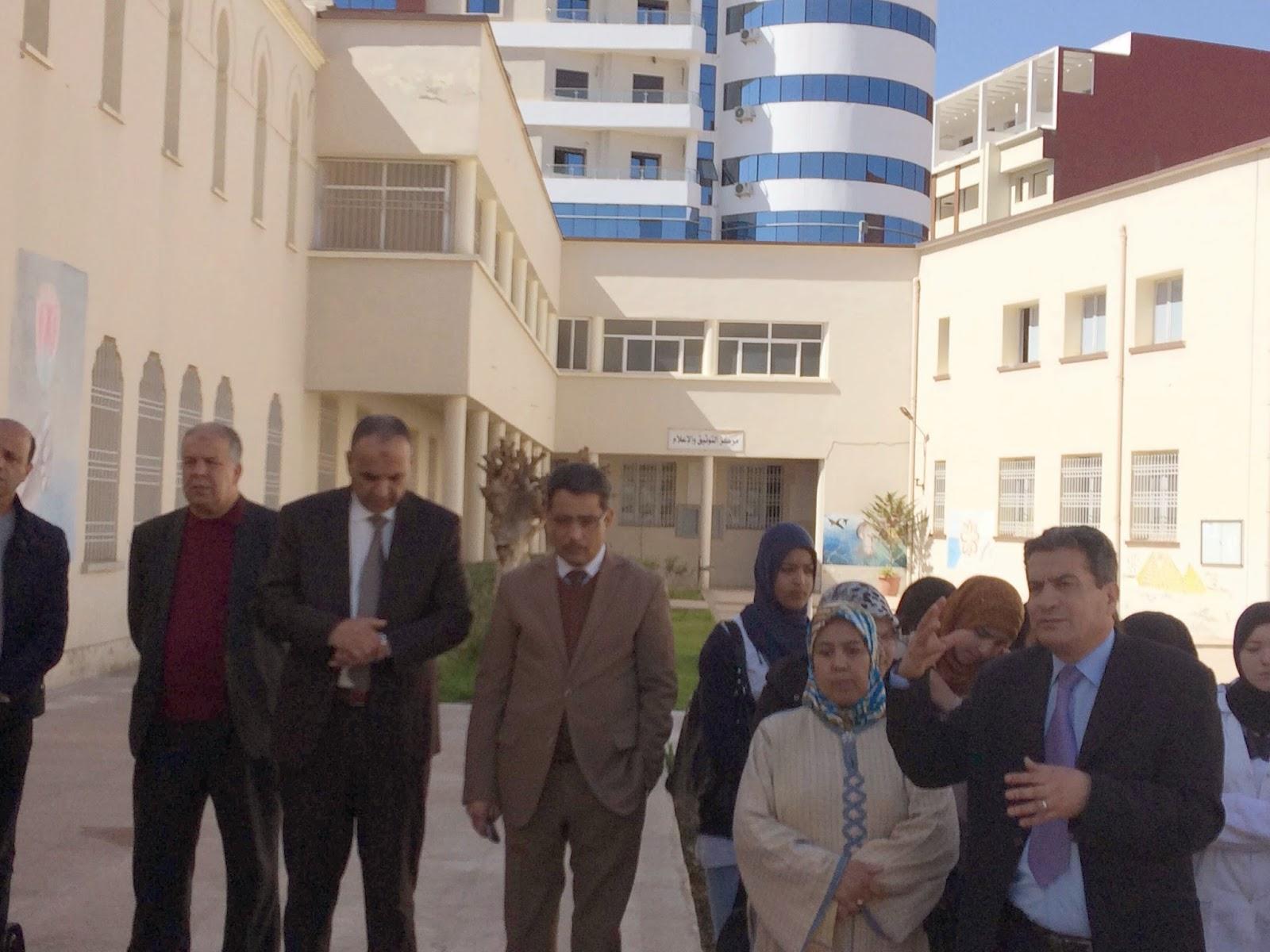 تلاميذ ثانوية عمر بن عبد العزيز التأهيلية بوجدة ينتفضون ضد العنف بمؤسستهم + فيديو
