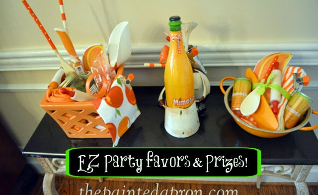 The Painted Apron shared her Party Panache EZ Party favors and Prizes featured at One More Time Events.com