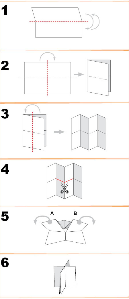 how to make mini nuts from paper