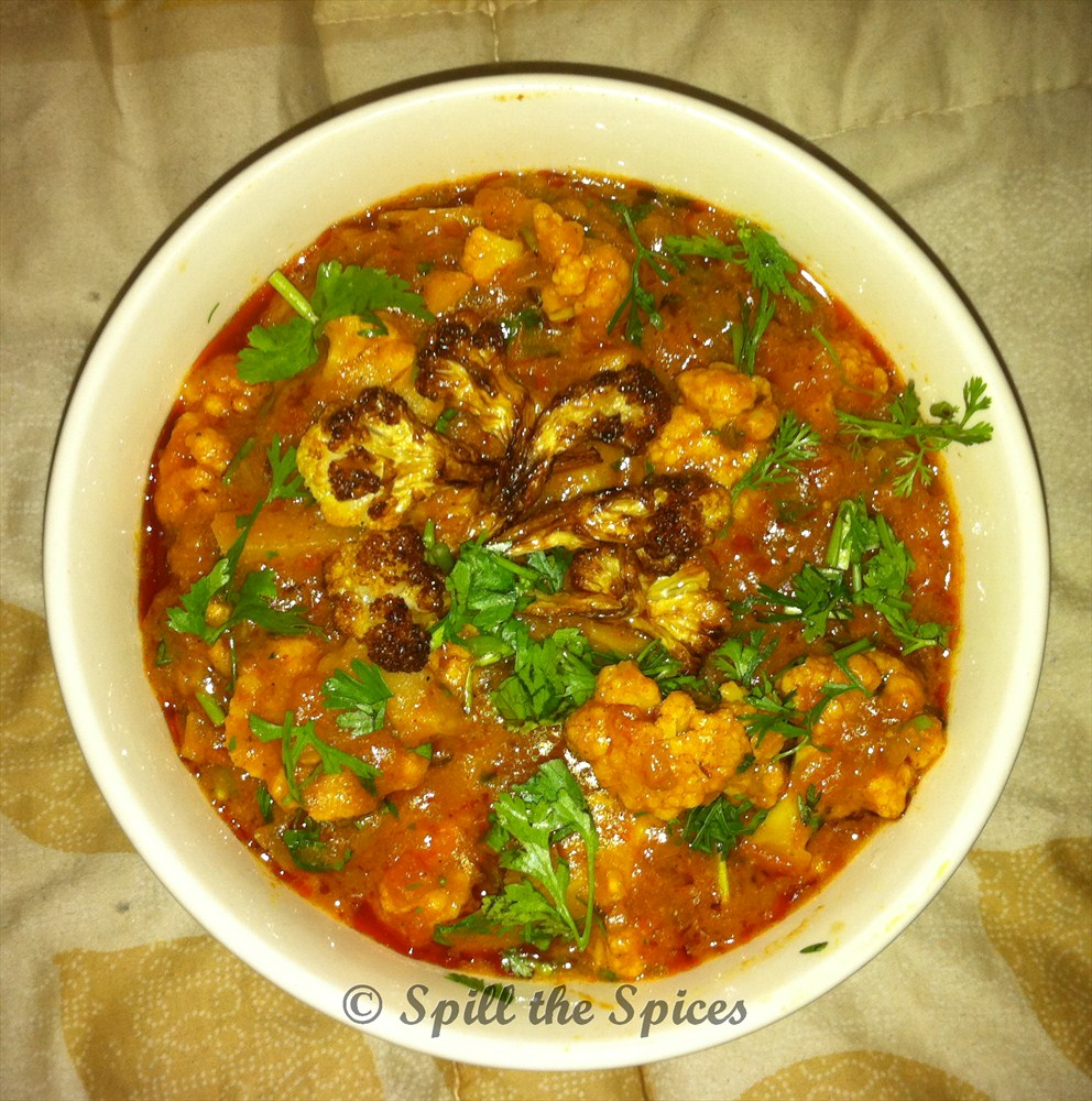 Cauliflower Tomato Curry | Spill the Spices