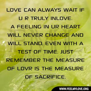 LOVE CAN ALWAYS WAIT