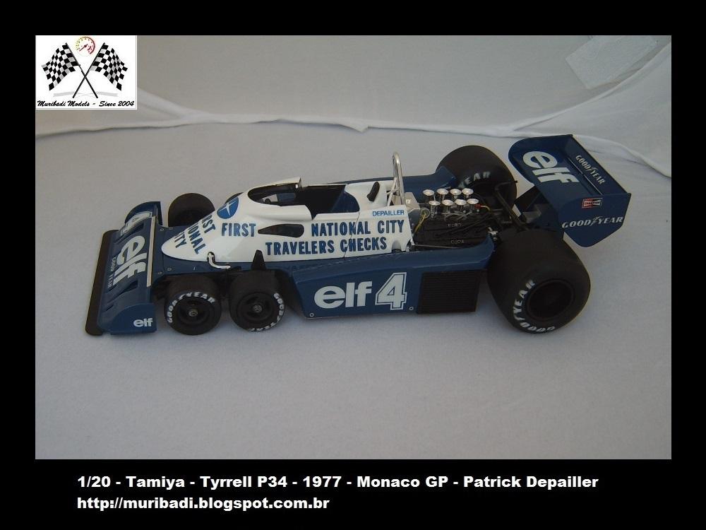 Blog do Badi: Tyrrell P34 - Monaco GP - 1977 - Patrick Dapailler - 1/20 - Tamiya