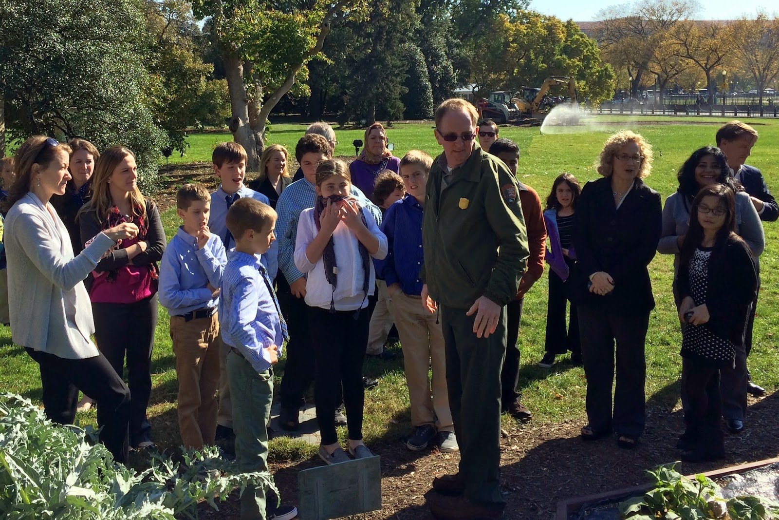 Hockomock YMCA Healthy Futures group visiting the White House garden