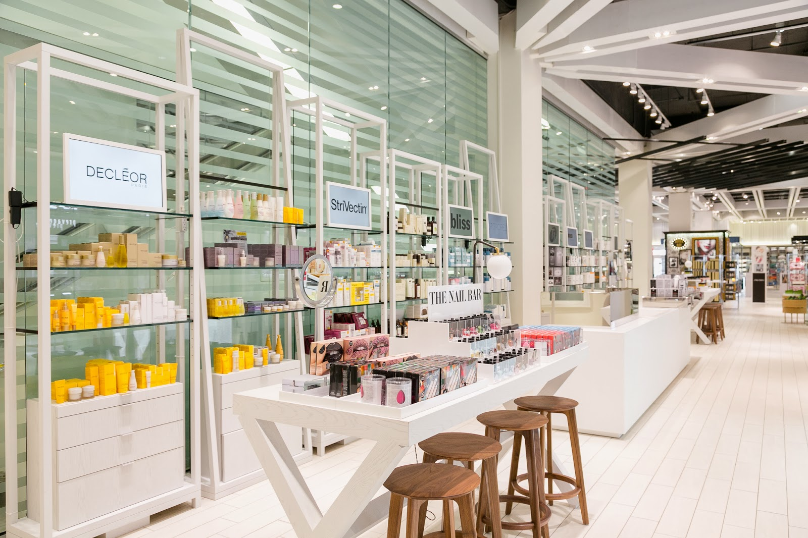 beauty news revamped and interactive beauty counters at