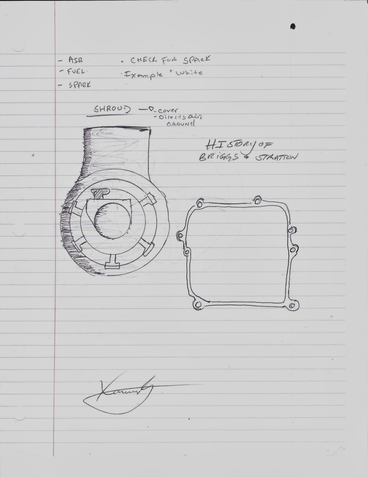 Journey To An Engineering Career  Engine Diagram  Drawn  Small Engine 101