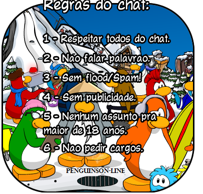 Regras do chat