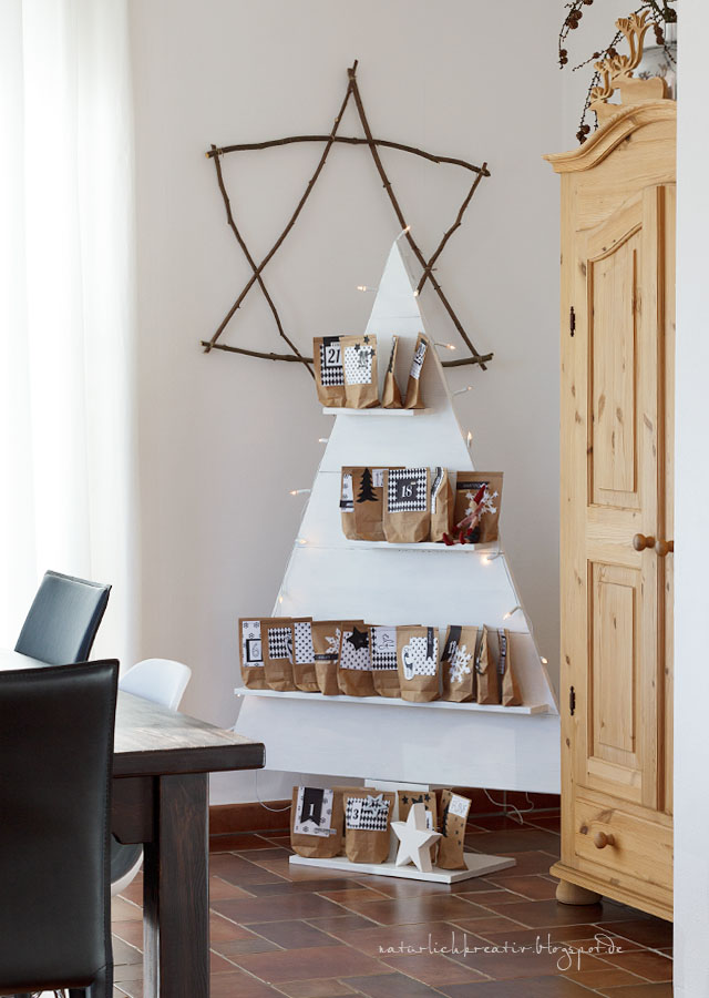 natuerlichkreativ adventskalender o tannenbaum. Black Bedroom Furniture Sets. Home Design Ideas