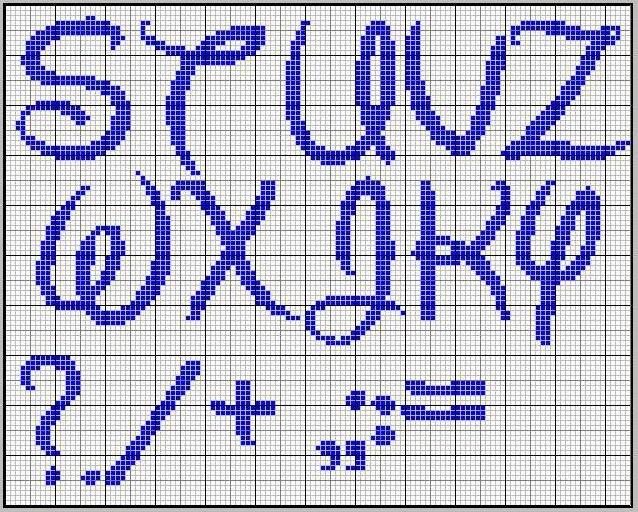 Alfabeto tipo Disney para punto de cruz. | Oh my Alfabetos!