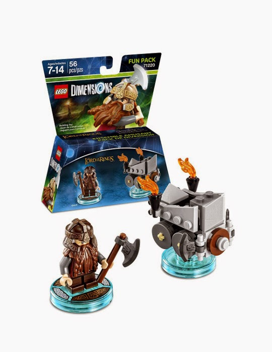 TOYS - LEGO Dimensions : Lord Of The Rings  71220 Fun Pack : Gimli & Axe Chariot | Figura - Muñeco   [27 Septiembre 2015] | Juguetes & Videojuegos   Xbox One, PlayStation 4, Nintendo Wii U, PlayStation 3, Xbox 360  Piezas: 56 | Edad: 7-14 años