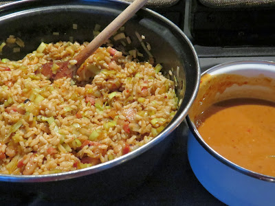Snelle rijstschotel