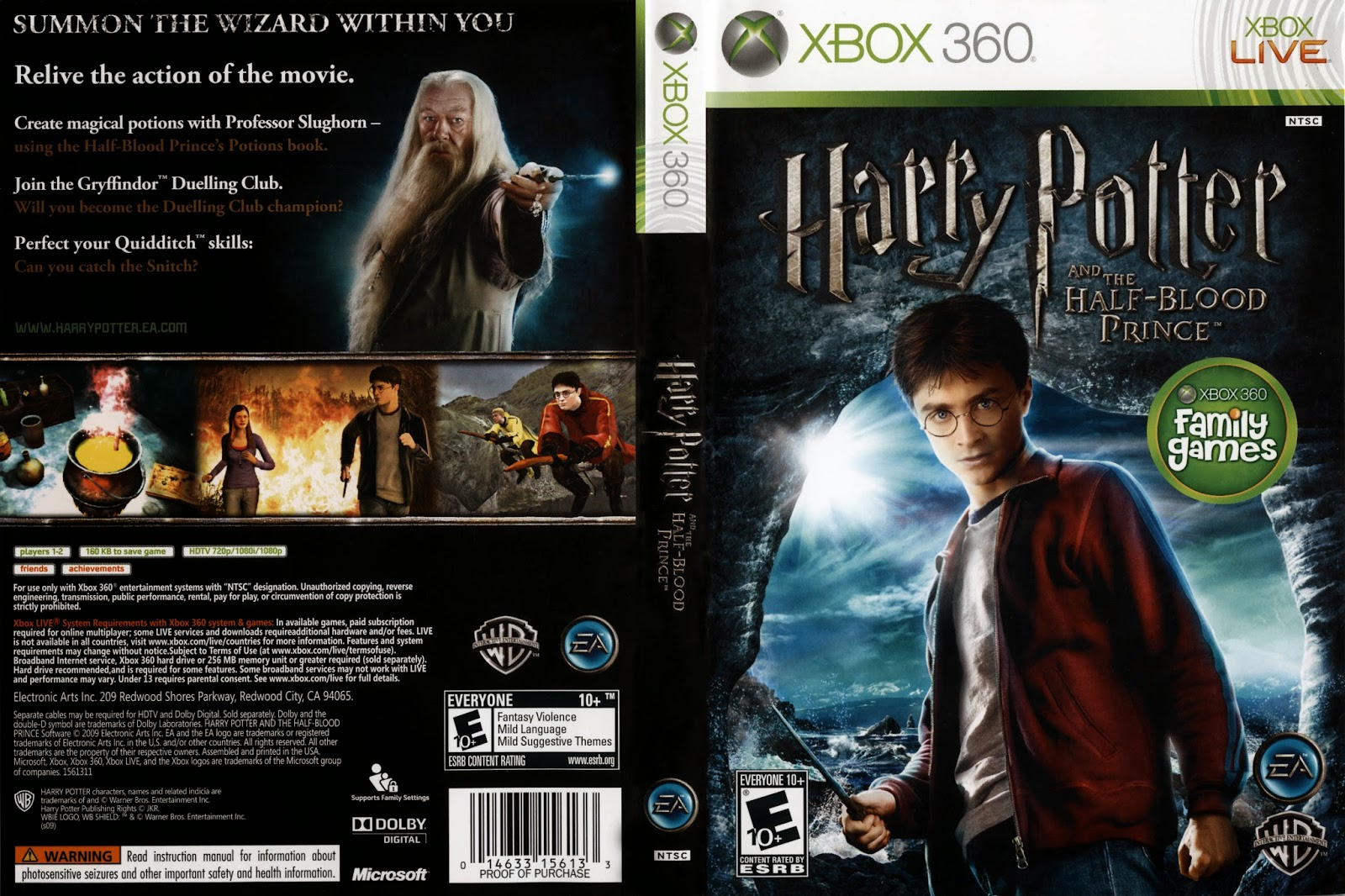Capa Harry Potter And the Half-Blood Prince XBOX 360