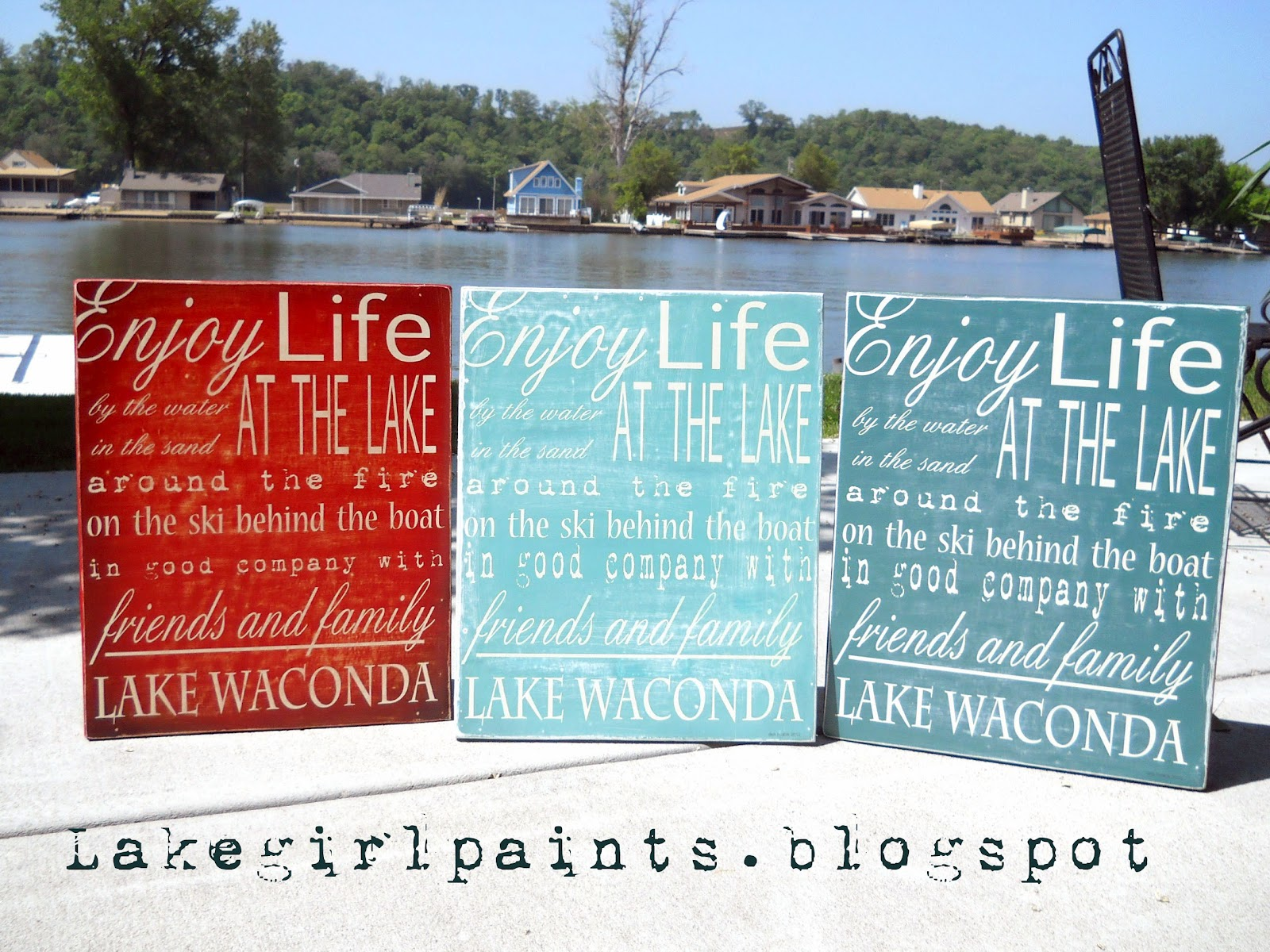Lake Girl Paints: Lake Word Art - in Color