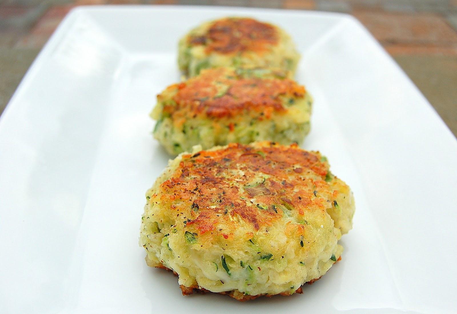 Zucchini Parmesan Cakes - Souffle Bombay