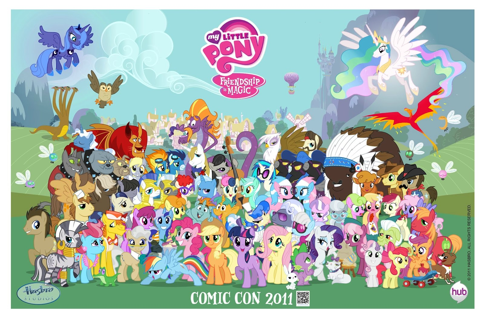 My little pony friendship is magic comic con 2011 poster jpg