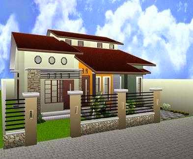 Desain Pagar Rumah Sederhana