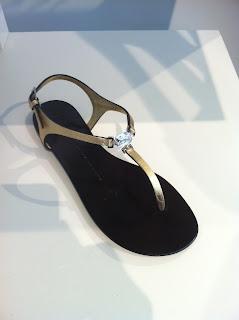 Giuseppe Zanotti Gold T-Strap Sandal