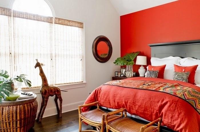 Habitaciones en rojo y gris dormitorios colores y estilos for Cuarto negro y rojo