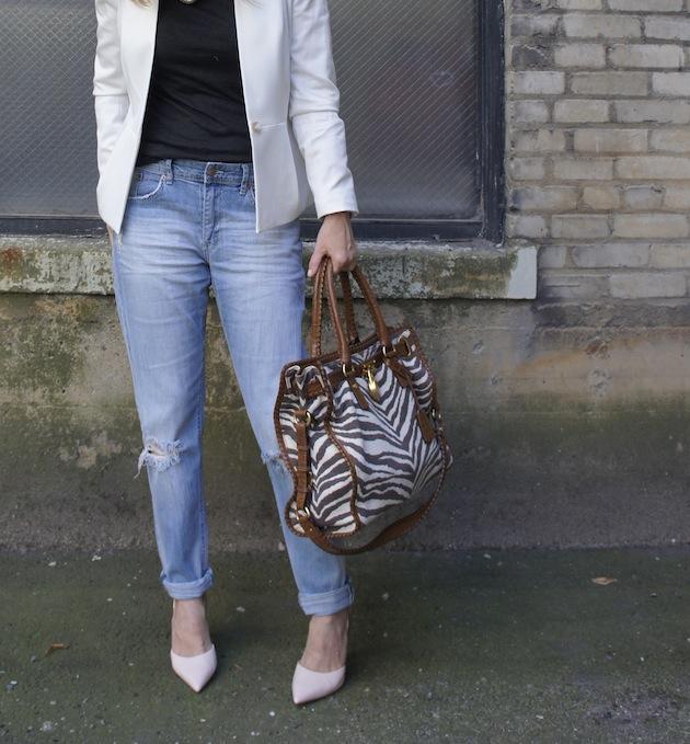 H&M boyfriend jeans, truth or dare heels, Michael Kors zebra Hamilton, H&M online store