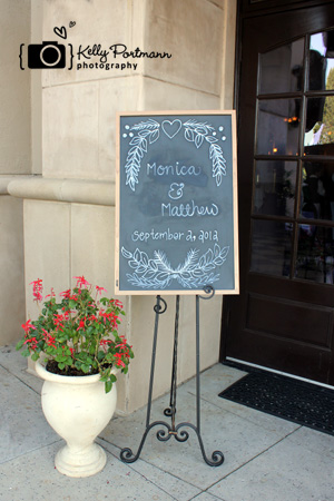 Bonnie Ruths, Frisco Wedding, Chalkboard Wedding Sign