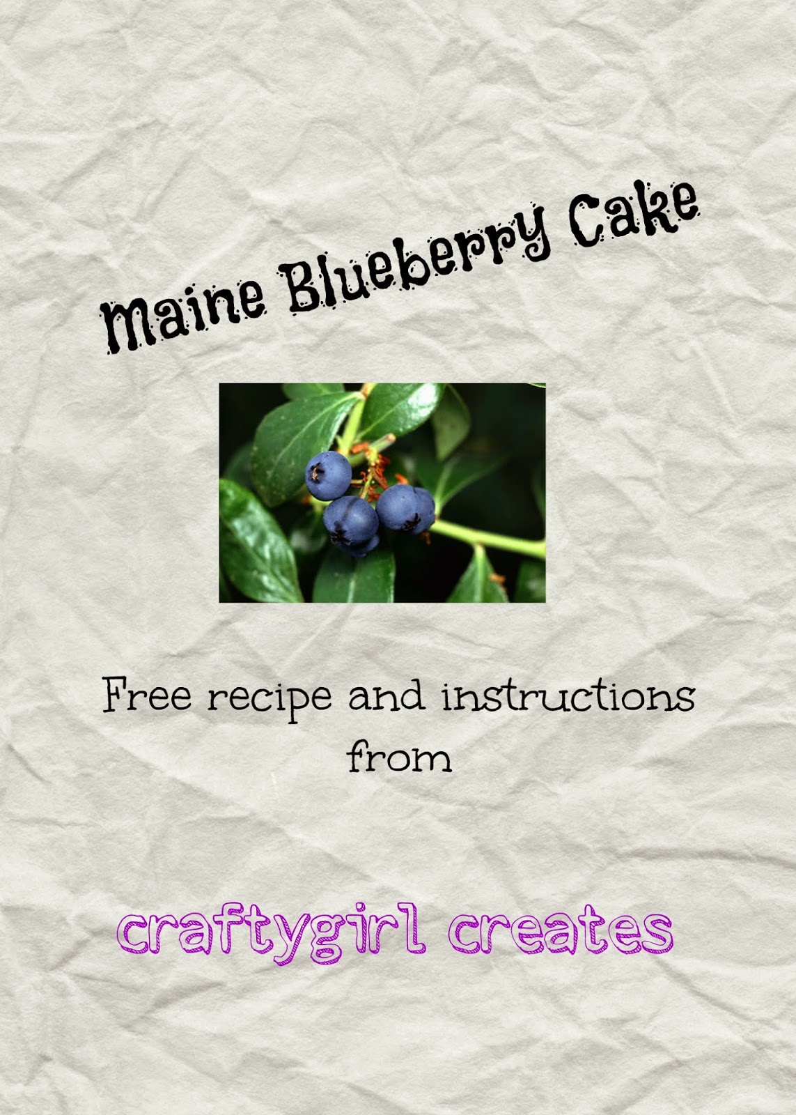 Maine Blueberry Cake Recipe