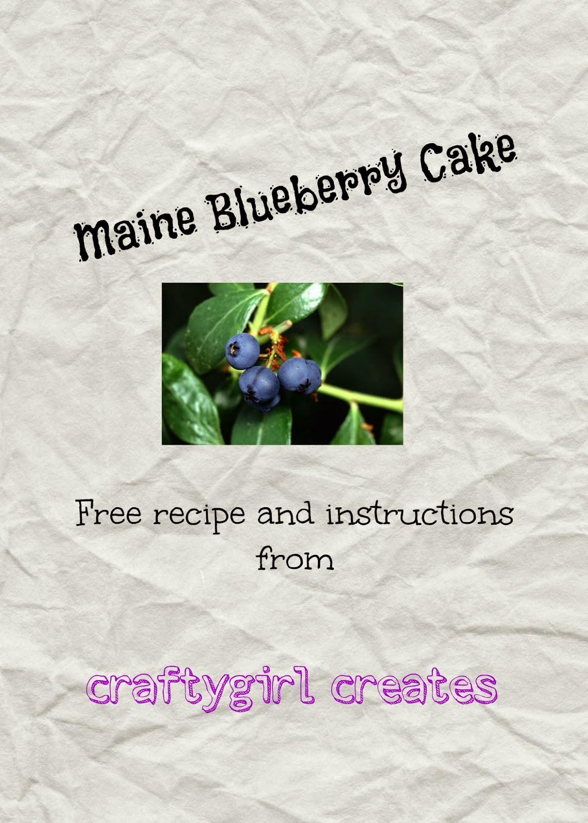 Maine Blueberry Cake Recipe