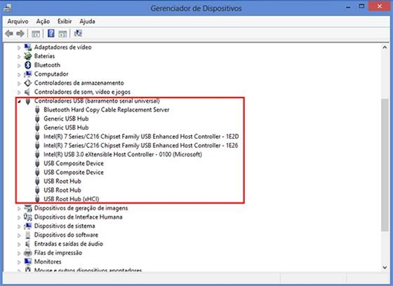 Acesse o gerenciador de dispositivos do Windows