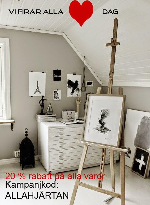 alla hjärtans dag, webbutik, inredning, inredningsdetaljer webshop, tavlor, svartvit tavla, gå bort present, presenter, rabatt, annelies design interior, ateljé, poster, posters, artprint, artprints, ateljé, arbetsrum, staffli, arkivskåp, vitt, vita, svart lykta, på väggen, vitt golv, plankgolv, vita golv, print, prints, konsttryck,