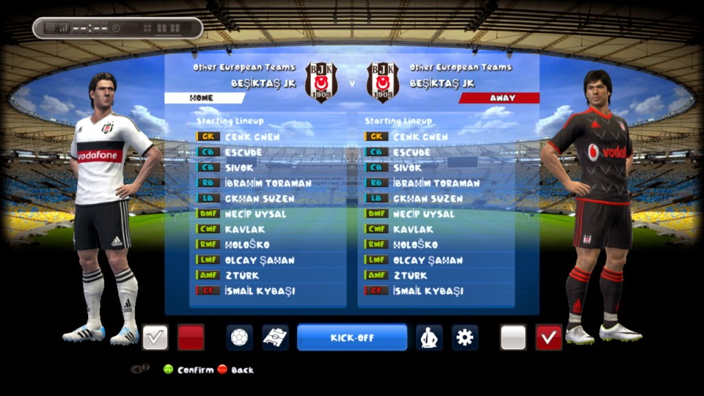 PES 2013 Besiktas Kits 2014-2015 By Andri_dexter11