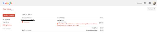 عملية شراء نطاق و شركة جوجل مقابل 12 دولار