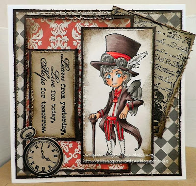 steam punk character stamp time visible image