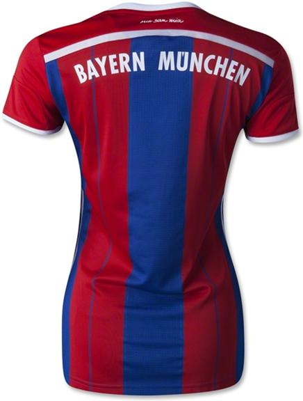 Baju Bola Bayern Munchen Home Ladies 2014 - 2015 Official