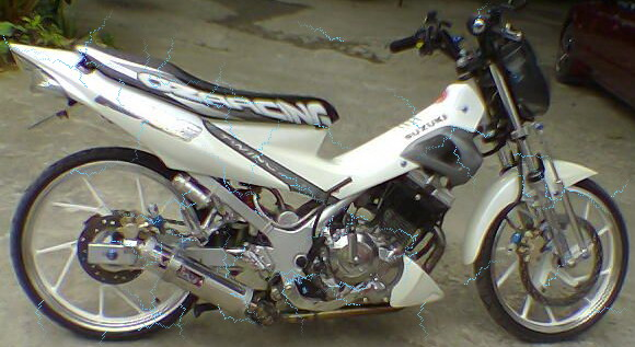 modifikasi motor suzuki satria suzuki satria fu 150 with air brush title=