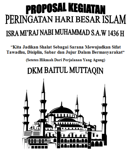 cover proposal Isra Mi'raj Nabi Muhammad
