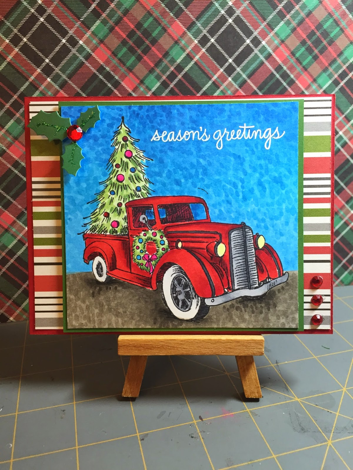 Stamp W106 Christmas Truck By Stampendous