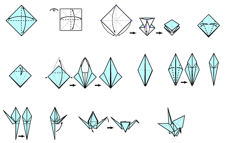 tutorial origami grulla